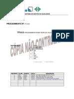 PV030 Teste de Válvulas