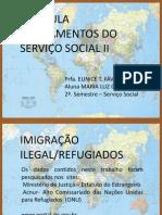 imigração com mapa mundi