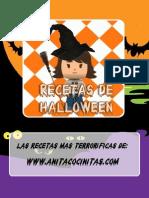 Recetas de Halloween de Anita Cocinitas 2013