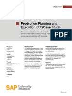 Production Planning and Execution Case Study