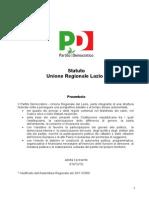 Statuto Del Pd Lazio Con Modifica Del 28 Novembre 2009