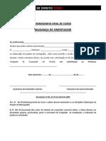 MUDANÇA DE ORIENTADOR