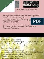 Agradecimientos a Eduardo Chapero-Jackson y Ana Amigo por Los Mundos Sutiles