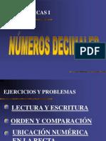 Numeros Decimales Recta Numerica