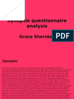 Synopsis Questionnaire Analysis