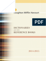 Houghton Mifflin Harcourt Reference Catalog 2014-2015