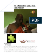 Buddhist Monk Attacked by Bodu Bala Sena and Police Inaction