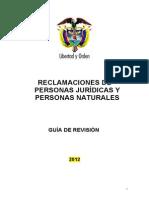 Reclamaciones de Personas Naturales y Juridicas ECAT 2012 - Consulta Publica