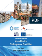 Presidency Conference Mental Health; Challenges and Possibilities