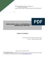Migraciones hacia la Argentina. El papel de la inmigración limítrofe
