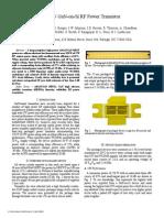 150 W GaN-On-Si RF Power Transistor - Nitronex