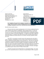 ACLU AZ Complaint Re CBP Roving Patrols