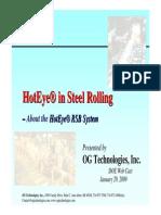 HotEyeinSteelRolling-Webcast 2009-0129 Emerging Steel Technologies