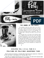 Polly Developing Tanks Instruction Book