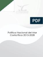 Política Nacional del Mar Costa Rica 2013-2028