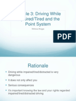 module 3 driving impaired-tired point system