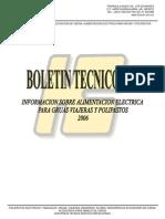 Boletín Técnico 3-06   Alimentacion Grúas y Polipastos