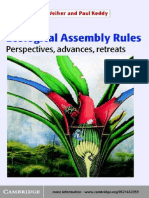 Ecological Assembly Rules. Keddy
