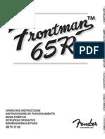 Frontman 65R Manual
