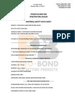 Power Guard 858 Penetrating Sealer MSDS