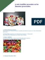 Los 7 tóxicos más temibles presentes en los alimentos procesados