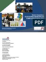 2011- Boletin Estadistico Elecciones Municipales Complementarias_30JUN2011