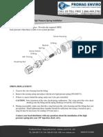 Walchem Pump High Pressure Spring Installation