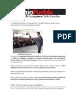19-08-2013 Sexenio Puebla - Moreno Valle Inaugura Ciclo Escolar 2013-2014