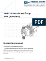 Walchem Pump HRP Series Manual