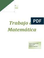 Trabajo de Matemática