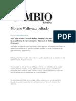 16-08-2013 Diario Matutino Cambio de Puebla - Moreno Valle Catapultado