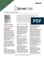 SQLServer2008 Datasheet Final