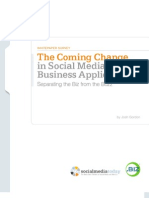 The Coming Change in Social Media Business Applications