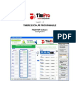 Timbre Escolar Programable