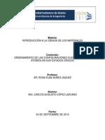 Ordenamiento de Las Configuraciones Electronicas de Atomos en Sus Edos Ionicos,