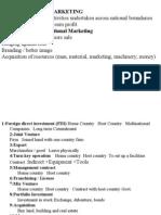 International Marketing notes