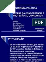 APRESENTAÇÃO DA  DEFESA DA CONCORRÊNCIA E PROTEÇÃO AO CONSUMIDOR.
