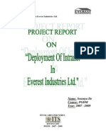 Final Summer Training Report -> Deployment Of Intranet In Everest Industries Ltd.