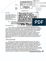 08-27-13  Case 1-90-cv-05722-RMB-THK Document 1375 ENDORSED LETTER addressed to Judge Richard M. Berman from James M. Murphy dated 8/26/13