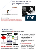 Walter Cannon, Homeostasis and the Physiological Response to Stress