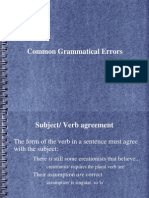 Common Grammatical Errors