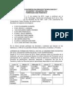 Planificacion de La Jornada de Formacion en Tic San Fco y El Bajo