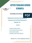 Proyecto. Optimización del Servicio de llamadas de emergencias de la Policía Municipal de Misantla, Ver.