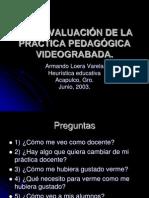 AUTOEVALUACIÓN DE LA PRÁCTICA PEDAGÓGICA VIDEOGRABADA
