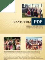 CANTO FOLCLÓRICO