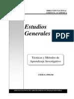 Tecnicas y Metodos de Aprendizaje Investigativo 1