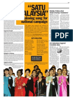 thesun 2009-07-20 page09 satu malaysia limkokwing song for national campaign