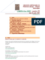 LAMPEA-Doc 2009 – numéro 25 / lundi 20 juillet 2009