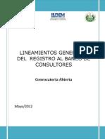1. Lineamientos Generales Registro-consultores Mayo 2012