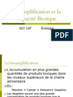 Sciences 10F - Notes - Bioamplification et La Capacite Biotique